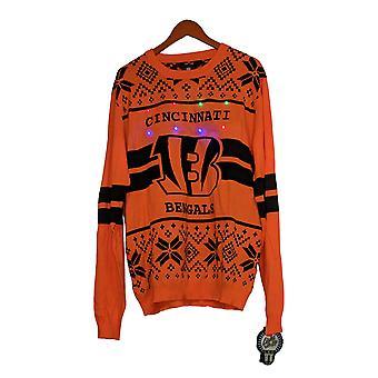 NFL Homme Cincinnati Bengals Sweater LED Lighted Ugly Orange A371650