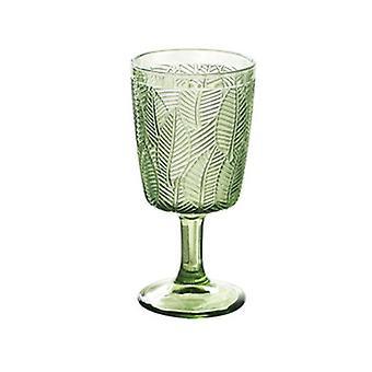 Retro wijnglazen cups Amber Relief bladeren drinken fruitsap bruiloft partij Champagne Cup (groen)