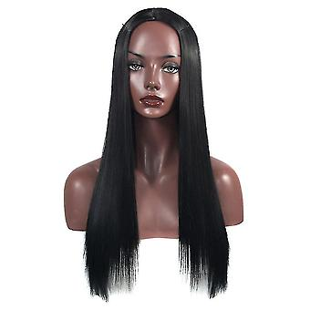 Ponytail matte long straight hair wig halloween gift