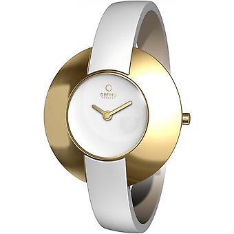 Obaku White Genuine Leather V135LGIRW Women's Watch