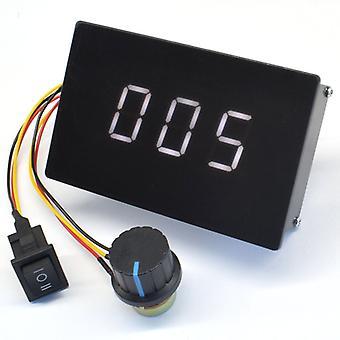 Dc 6-60v 20a DCモータースピードコントローラレギュレータデジタルディスプレイ0〜100%調整可能Pwm 6v 6v 12v 24v 48v 2000w前方前方