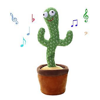 Cactus pluche speelgoed schudden dansende opname verlichting cactus