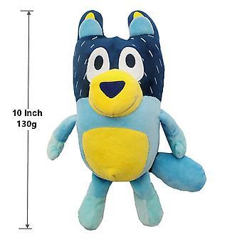 Niebieska pluszowa lalka zabawkowa, 10 cali, kreskówkowa rodzina i łupienie przyjaciół psów, miękka i urocza pluszowa zabawka