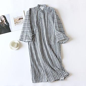 New Japanese Kimono Spring And Summer Couple Bathrobe 100% Cotton Gauz