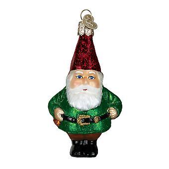 Viejo mundo Navidad divertido poco barbudo ornamento del jardín Gnome vidrio vacaciones