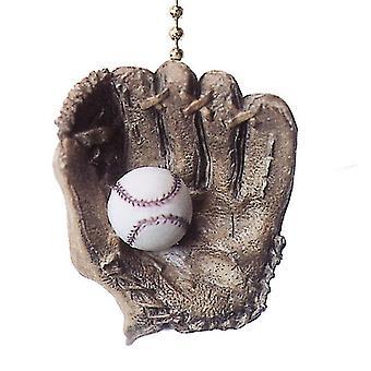 Ventilador de teto da World Series Baseball luva bola e leve tração