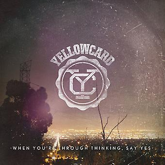 Yellowcard - When You're Through Thinking Say Yes [CD] USA import