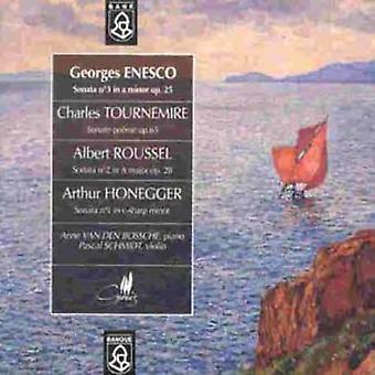 Enesco/Tournemire/Roussel/Honegger - Enescu; Tournemire; Roussel...Sonatas for Violin & Piano [CD] USA import