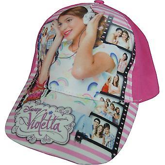 Cappellino da baseball ragazze Disney Violetta con schienale regolabile