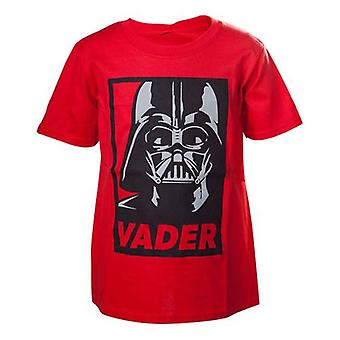 Star Wars Kids Unisex Darth Vader Framed T-Shirt 158/164 Red TSY19602STW-158/164