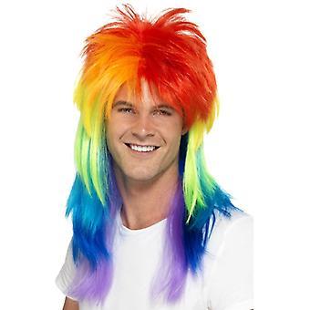 Mulle peruken rainbow redneck Gay Pride Rainbow 80s