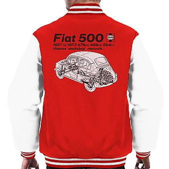 Haynes Workshop Manual Fiat 500 Black Men's Varsity Jacket