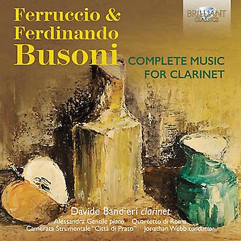 Busoni / Bandieri / Gentile - Busoni / Bandieri / Gentile: Complete Music for Clarinet [CD] USA import