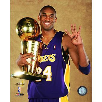 Kobe Bryant Game Five of the 2009 NBA Finals With Championship Trophy (#30) Photo Print (8 x 10)