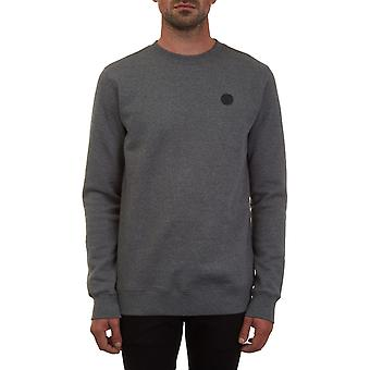Felpa Volcom Single Stone Crew in grigio scuro