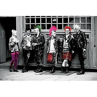 Punk affisch affisch Skriv