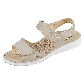 Ganter Gina 20 01221900 Taupe Softnubuk Calf 2001221900 universal summer women shoes