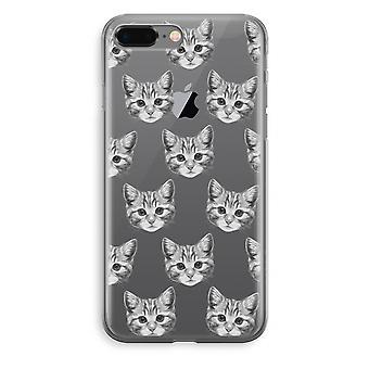 iPhone 8 Plus Transparant Fall (Soft) - Kätzchen