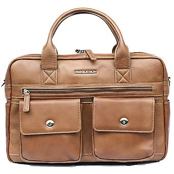 Leather Briefcase Business Bag Messenger Laptop And Tablet Pockets Case Shoulder