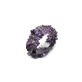 Armband Stretch Frau in Steinen natürliche Amethyst-violett