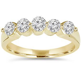3/4ct Diamond Wedding 14K Yellow Gold New Ladies Ring