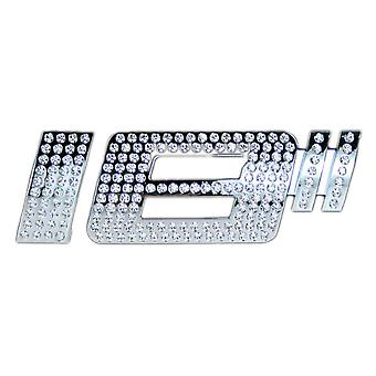 Luxbling car chrome inch 3D emblem with Swarovski Crystals