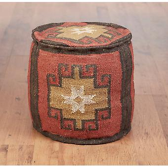 AA Importing 48843 Round Kilim Pouf