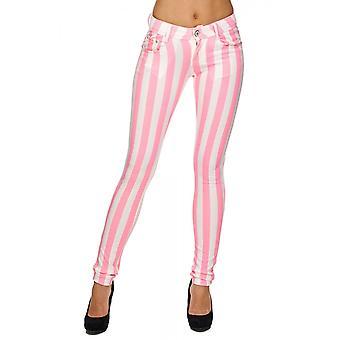 Hyvät kangas venyttää housut Glitter Neon Tregging työnnä putki ohut blogi muoto vaaleanpunainen