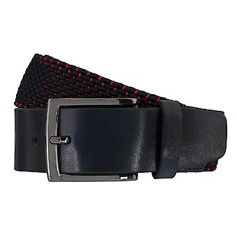 JOOP! Herr belt textil vävt bälte stretch blå/röda 5934