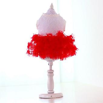 Candy Red Tutu Skirt Dog Dress