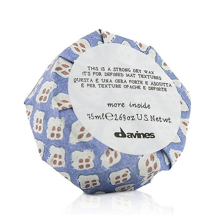 Davines meer binnenin dit is een sterke droge Wax (voor gedefinieerde mat texturen)-75ml/2,69 Oz