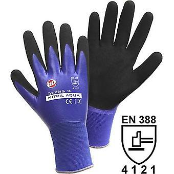 L+D Nitril Aqua 1169 Nylon Protective glove Size (gloves): 8, M EN 388 CAT II 1 Pair