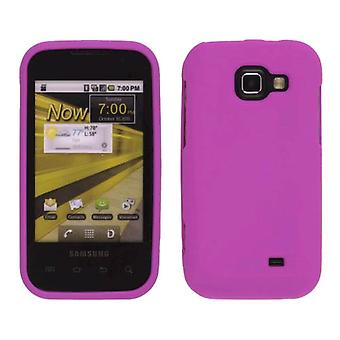 Sprint Two piece Soft Touch Snap-On Case for Samsung Transform M920 - Hot Pink