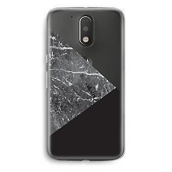 Motorola Moto G4/G4 Plus Transparent fodral (Soft) - marmor kombination