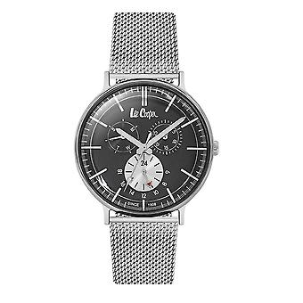 Lee Cooper mäns klocka silver Milanese Maille armband 7920