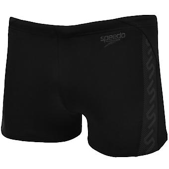 Speedo jongens Junior Monogram uithoudingsvermogen Aquashort zwemmen Swim Trunks - zwart - 28
