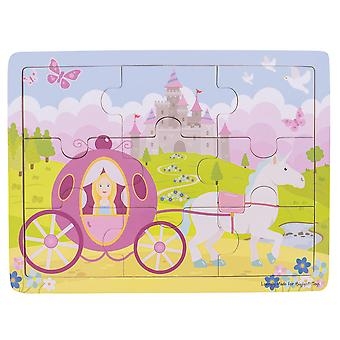 Bigjigs Toys Chunky Wooden Educational Tray Puzzle - Princess
