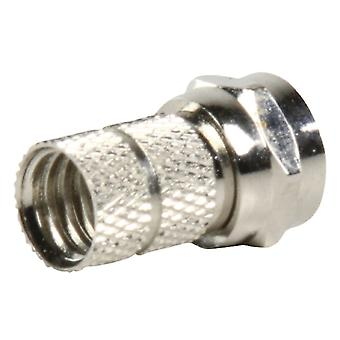 Valueline FC-001PROF F-connector Male Metaal Zilver
