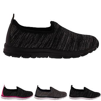 Womens Get Fit Lightweight Comfort Walking Running Yoga Fitness Trainers UK 3-10