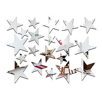 تريكسيس 23PC التي لها نسخ متطابقة النجم الفضي ملصقات الديكور مجموعة للمنزل