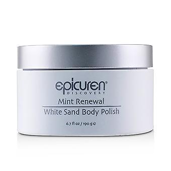 Epicuren hortelã renovação corpo areia branca polonês - 190g/6,7 oz