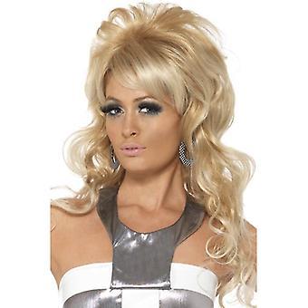 Long Blonde Wavy Wig, 60's Beauty Queen Wig , Fancy Dress