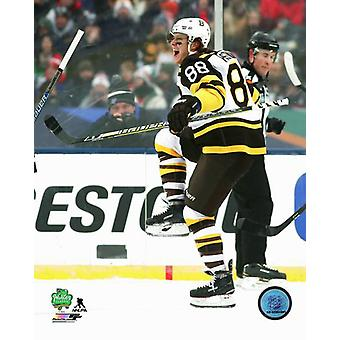 David Pastrnak 2019 NHL zima Classic Photo Print