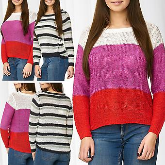 JDY Womens Knit Sweater Jumper JDYMORE STRIPE Knitted Longsleeve Shirt Striped