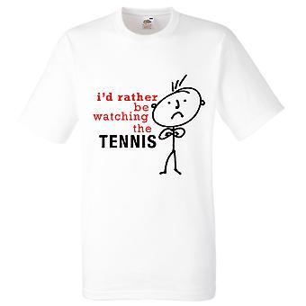 Miesten olen mieluummin katsella Tennis valkoinen t-paita