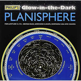 Filipa świecących w ciemności planisfera (północnej szerokości geograficznej 51,5)