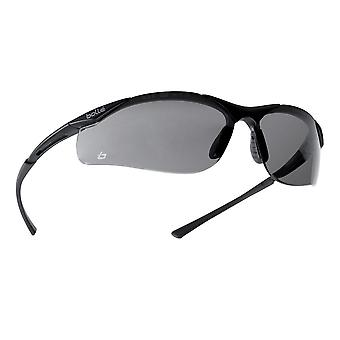 Bolle CONTPSF Contour Spectacles Black Nylon Frame Mid Smoke Anti-Scratch/Fog