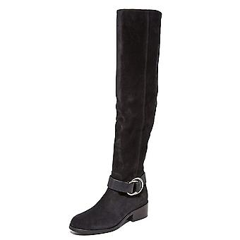 Frye Womens Kristen Leather Almond Toe Over Knee Fashion Boots