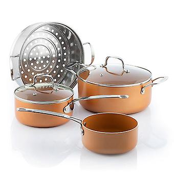 Kitchen set with steam cooker (6 pcs)