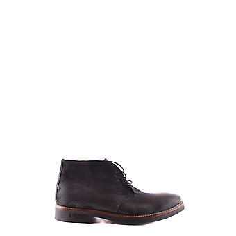 Trussardi Ezbc149007 Men's Brown Suede Ankle Boots